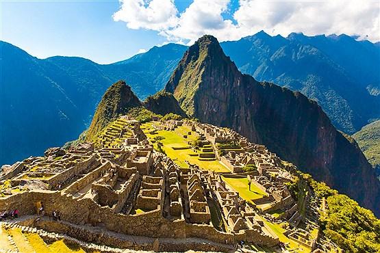 معبد باستانی ماچو پیچو کوهستان ماچو پیچو در پرو