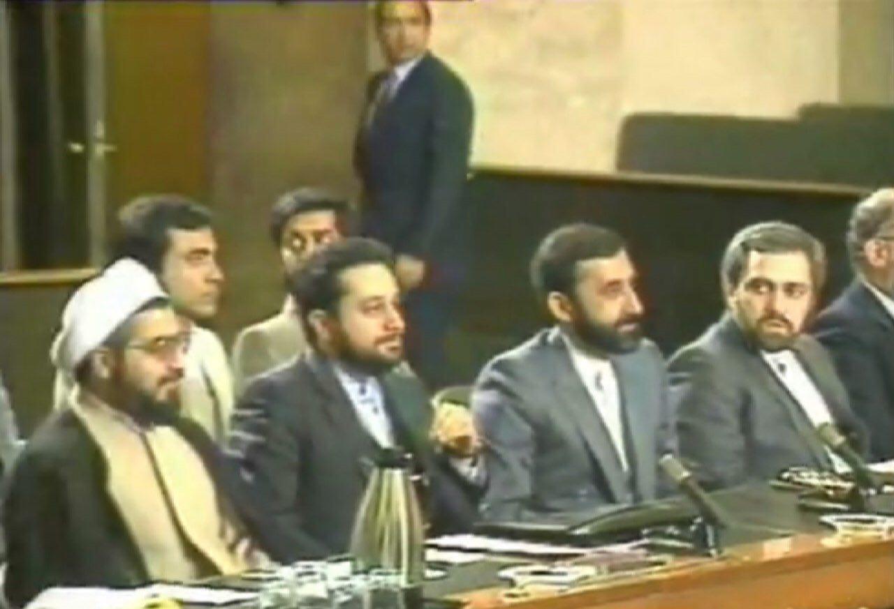 حسن روحانی و ظریف در تیم مذاکره کننده ایران در قطعنامه ۵۹۸