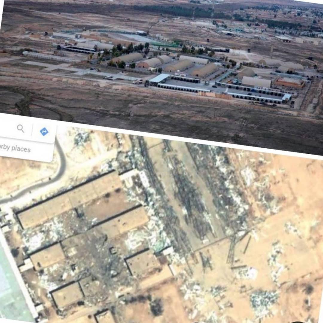 تصاویر هوایی از حمله موشکی