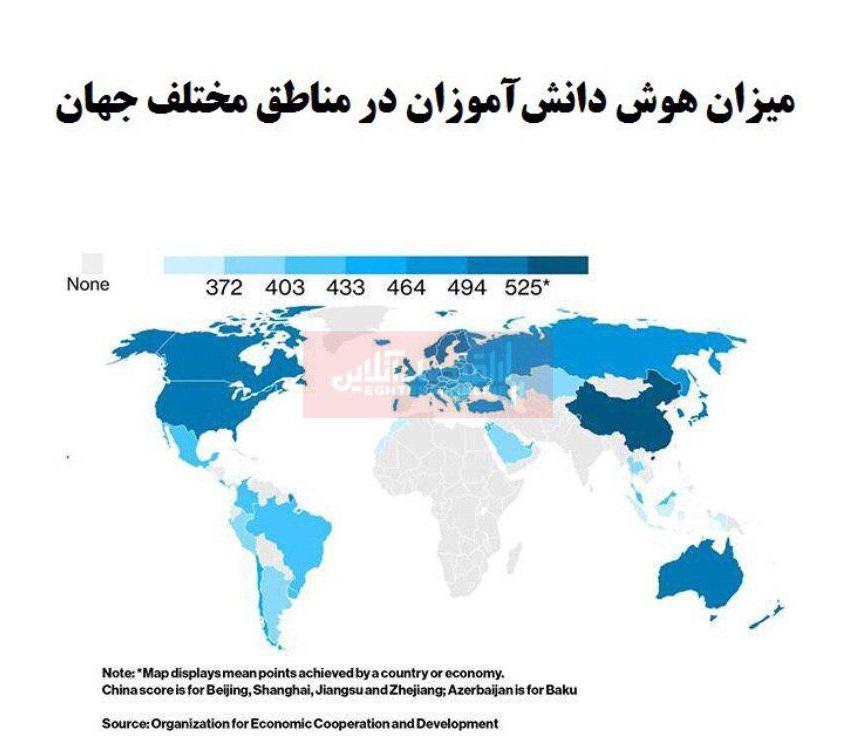 کدام کشورها باهوشترین دانشآموزان را دارند؟/ پیشتازی هوش کشورهای آسیایی