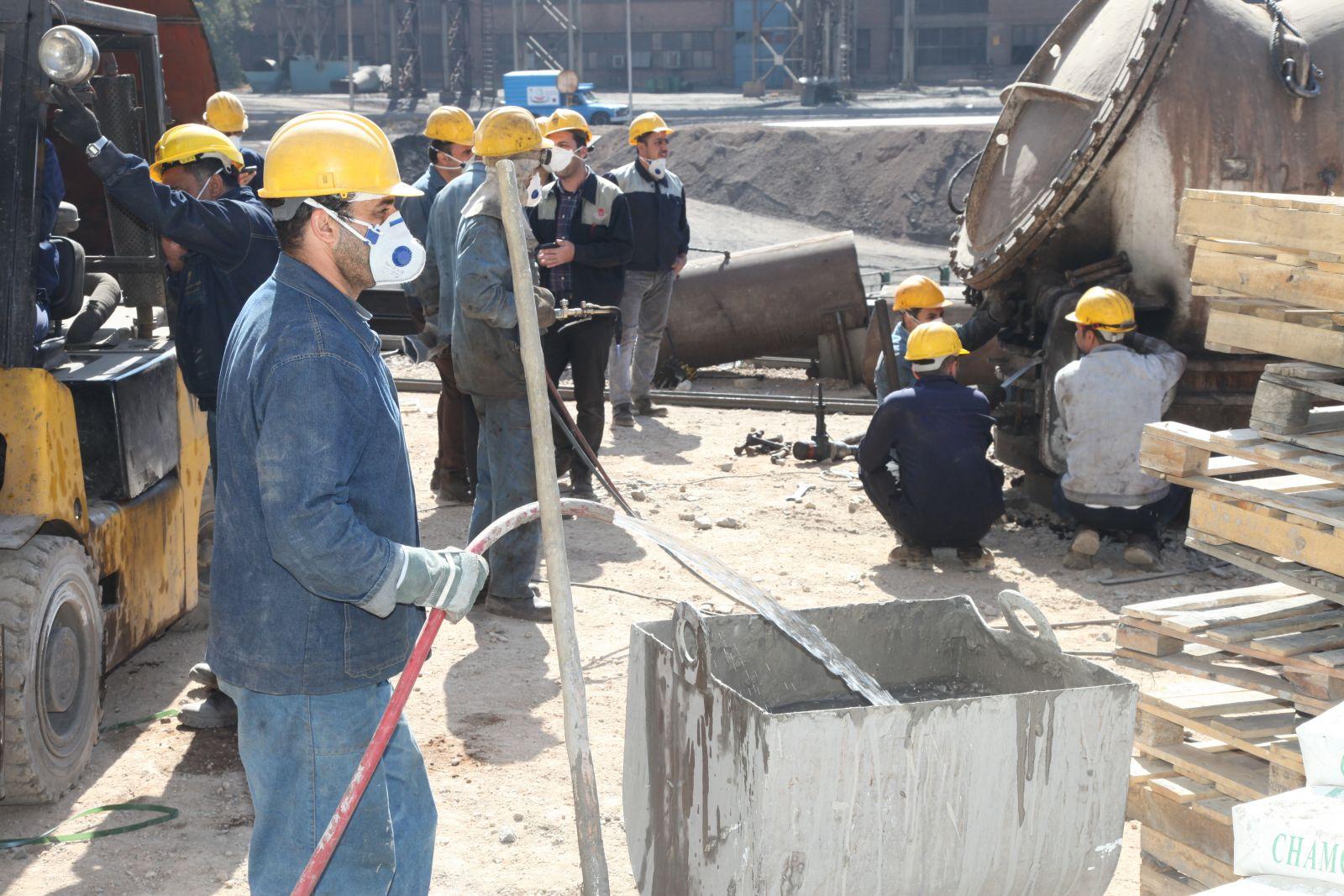 روند موفقیت آمیز بازسازی استک کائوپرهای کوره بلند شماره 2