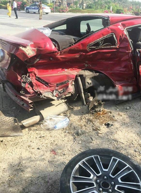 دو کشته در تصادف موستانگ و کامیون در کیش