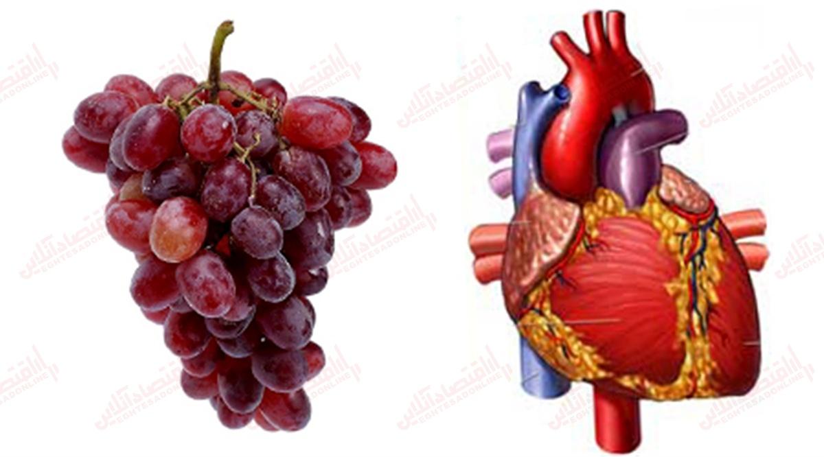 انگور + قلب