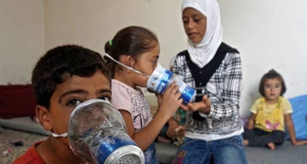 کودکان در حمله شیمیای ادلب