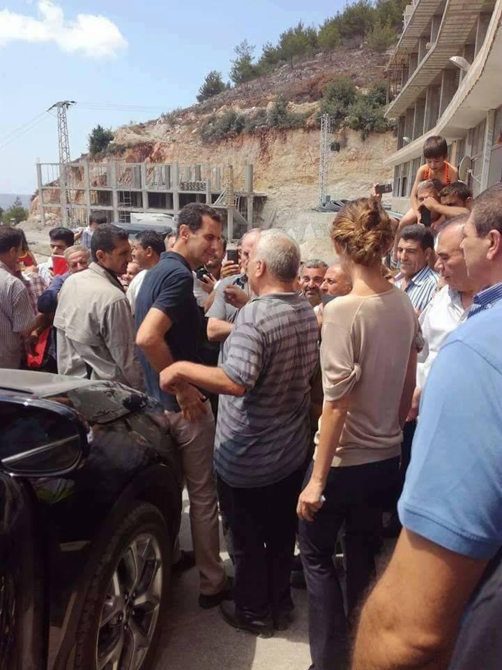 بازدید اسد و همسرش