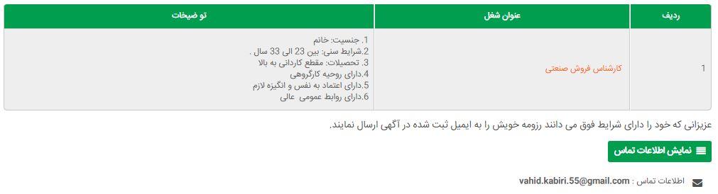 آگهی استخدام گروه خاور هسته ایرانیان