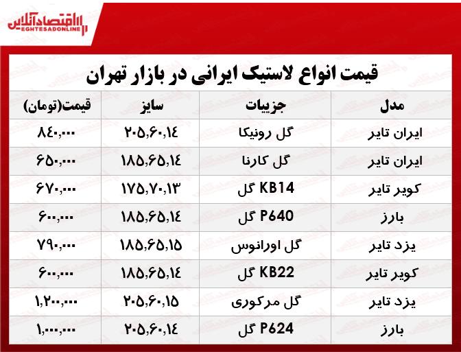 لاستیک ایرانی خودرو