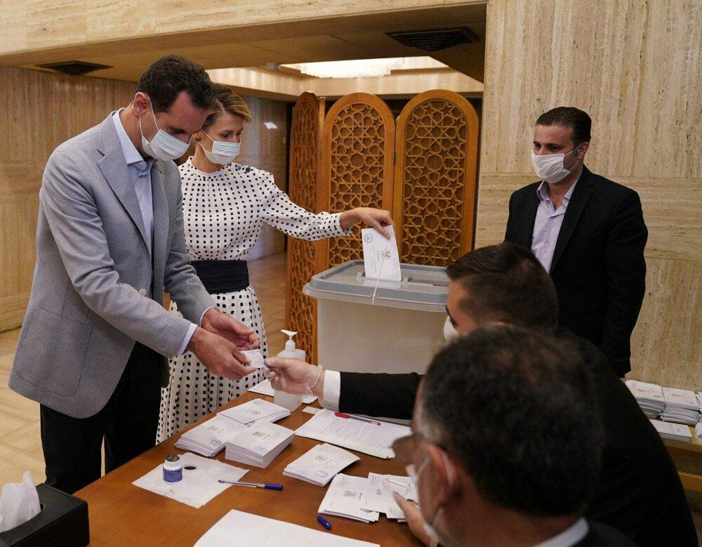 رای دادن بشار اسد