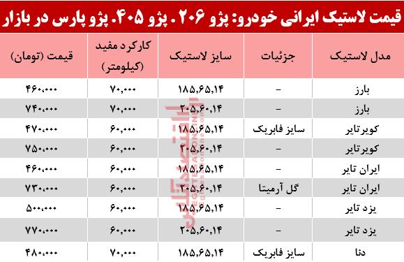 لاستیک خودرو ایرانی