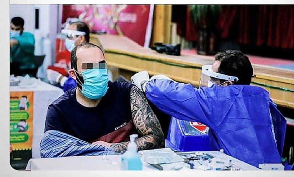 حمید صفت در زندان واکسن زد + عکس