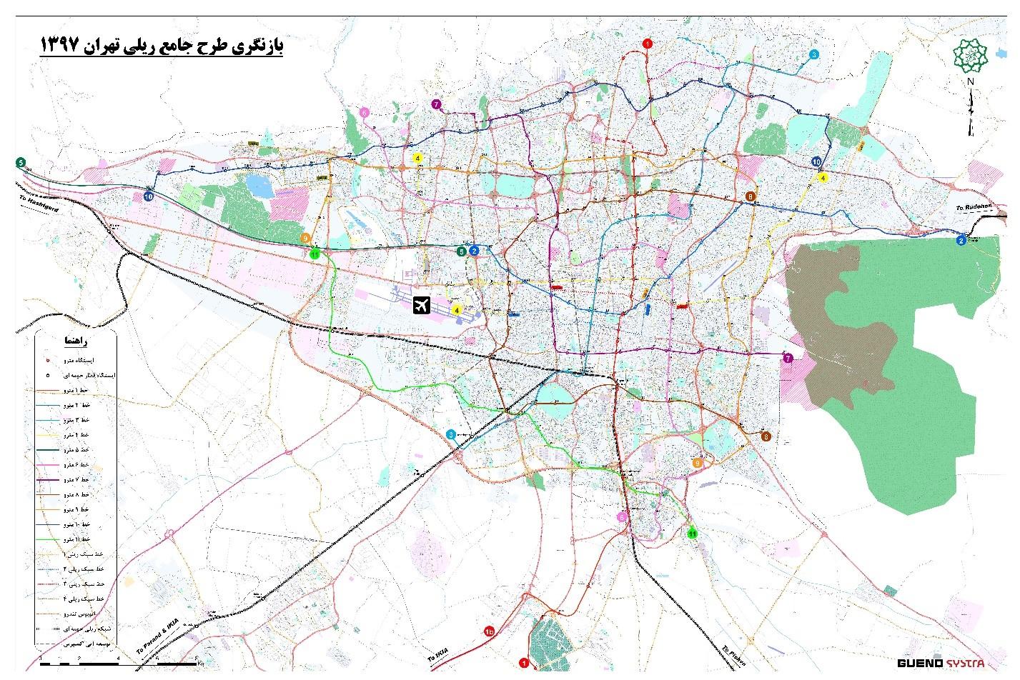 نقشه خطوط مترو تهران