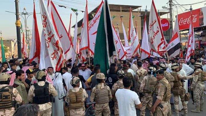 تجمع اعتراضی عشیره بنی تمیم در بصره