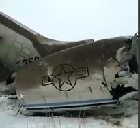 نخستین فیلم از هواپیمای سقوط کرده در افغانستان