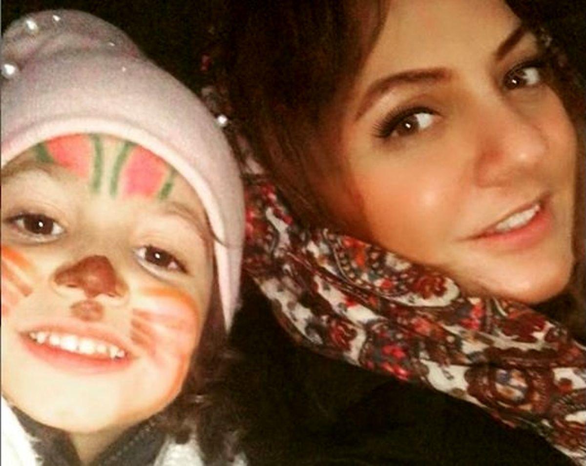 سرگرمی مادر و دختری مهناز افشار +عکس