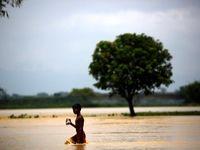 سیل و بیخانمانی در هند +تصاویر