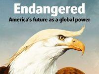 به خطر افتادن آینده آمریکا بر جلد نشریه اکونومیست +عکس