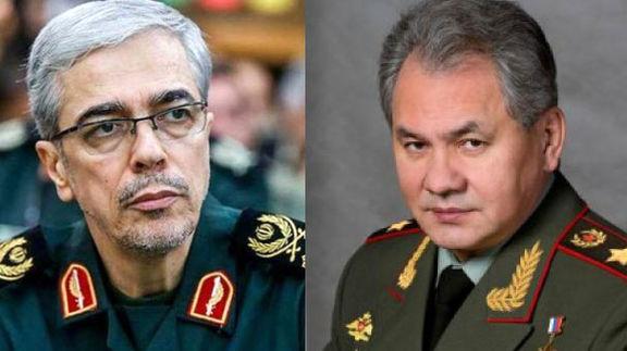 گفتگوی تلفنی سرلشکر باقری با وزیر دفاع روسیه