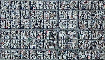 تصویر هوایی از منظمترین شهر ایران