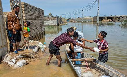 ورود سیلاب به غرب اهواز