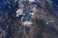 دریاچه ارومیه از چشم انداز ایستگاه فضایی +عکس