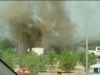 آتش سوزی در مترو مشهد