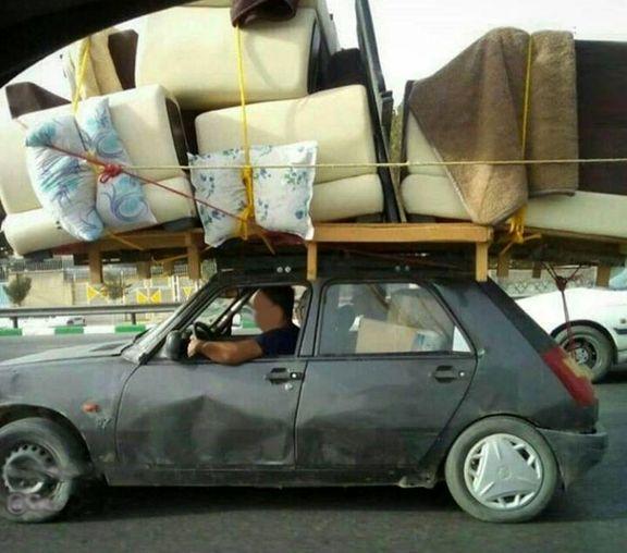 اسبابکشی با خستهترین ماشین سواری! +عکس