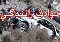 تصادف مرگبار وانت مزدا با راننده نیسان