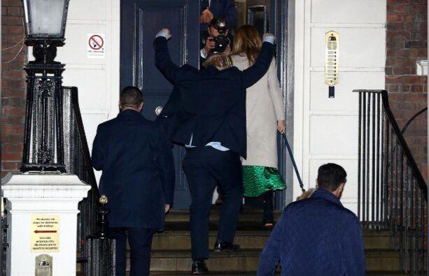 (تصاویر) خوشحالی جانسون پس از پیروزی در انتخابات