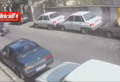 لحظه زورگیری وحشیانه از دختر جوان در تهران +فیلم