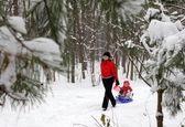 وقتی در مسکو برف سنگین میبارد +تصاویر