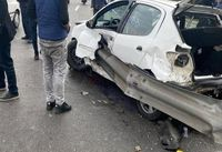 تصویری دلخراش از سانحه رانندگی در تهران