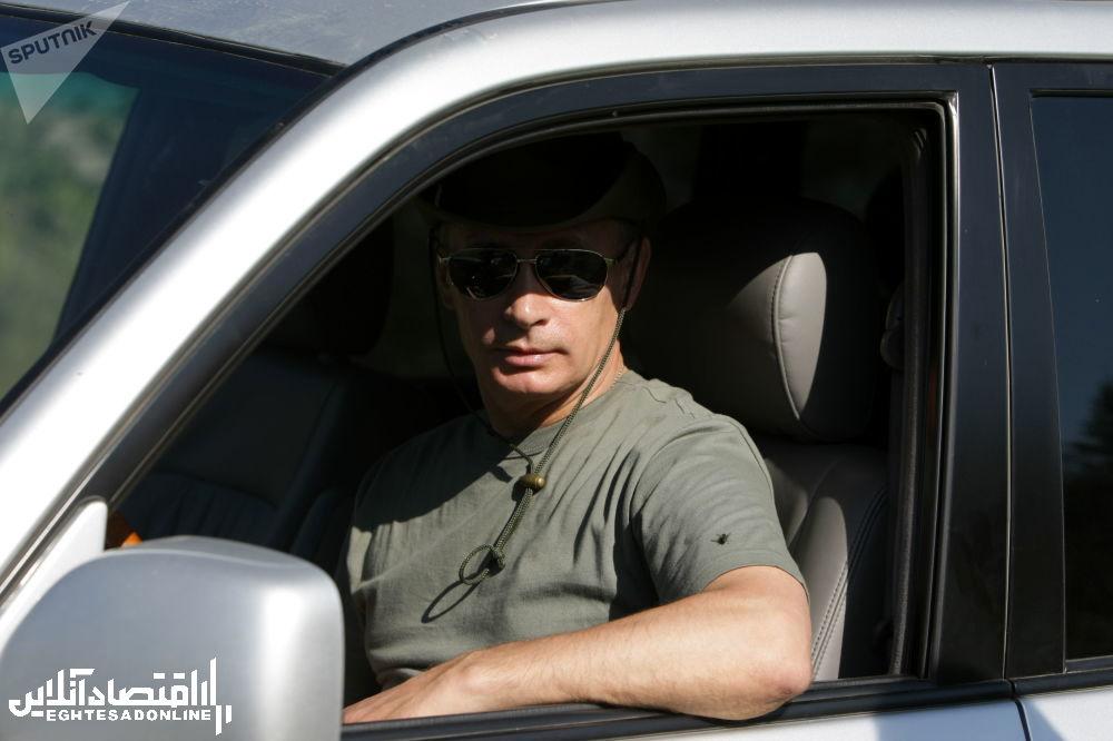 ولادیمیر پوتین در تعطیلات - جمهوری تیوا