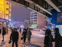 بارش برف در تبریز +عکس