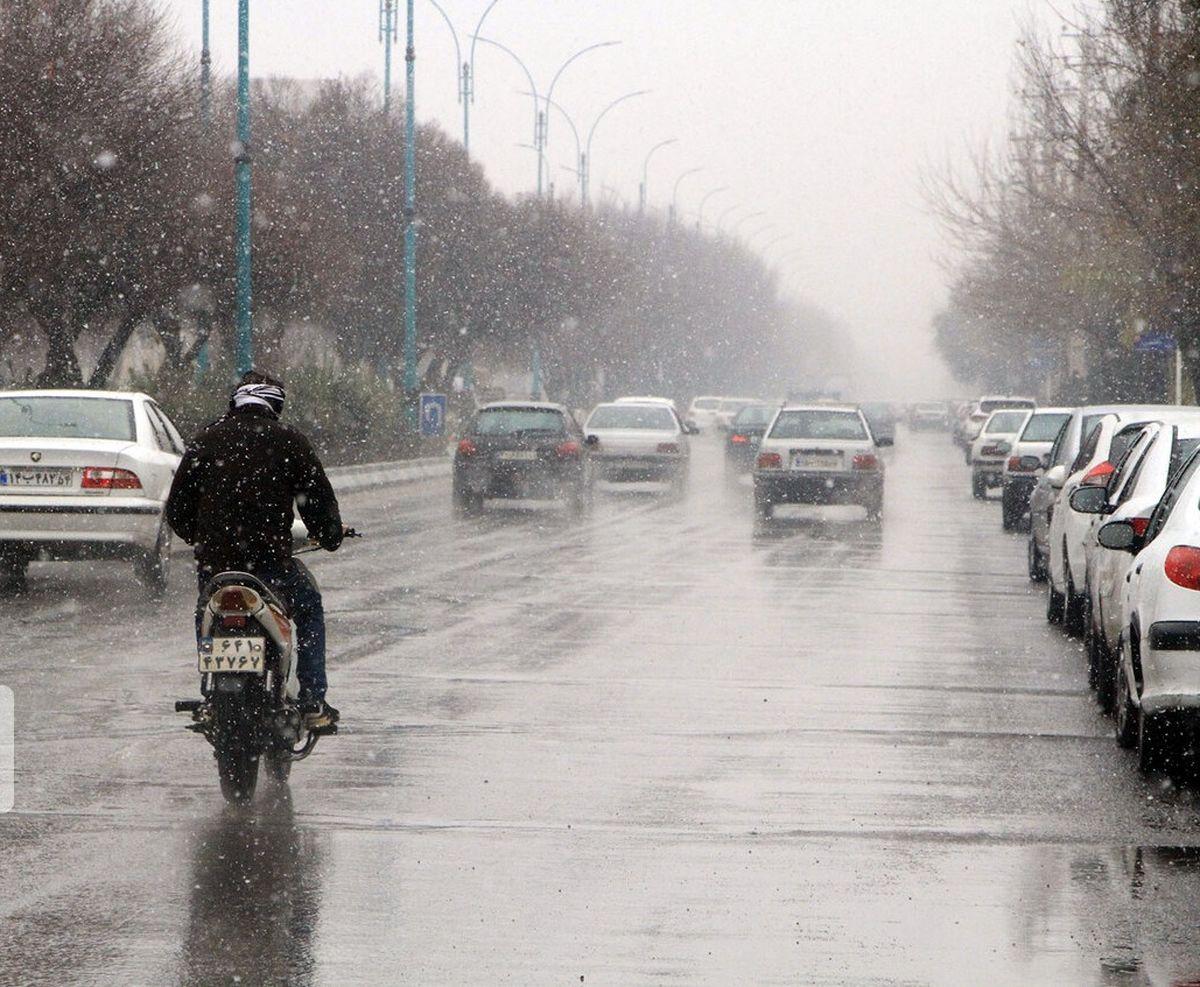 تداوم بارش برف و باران تا جمعه