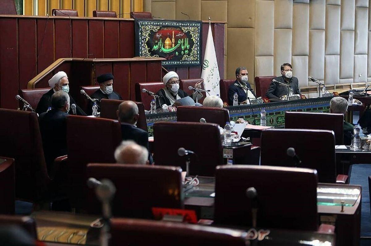 اولین جلسه مجمع تشخیص مصلحت نظام با حضور رییسی + عکس
