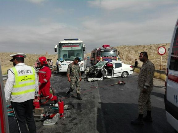 سه کشته و ۶زخمی در تصادف ۲۰۶با وانت مزدا