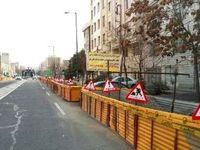 پروژه دردسرساز فاضلاب در میدان قدس تهران +عکس