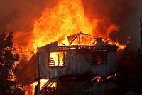 آتشسوزی مهیب در شیلی بیش از 700نفر را بیخانمان کرد