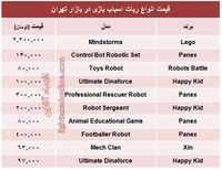 برای بچهها چه مدل رباتی بخریم؟ +جدول