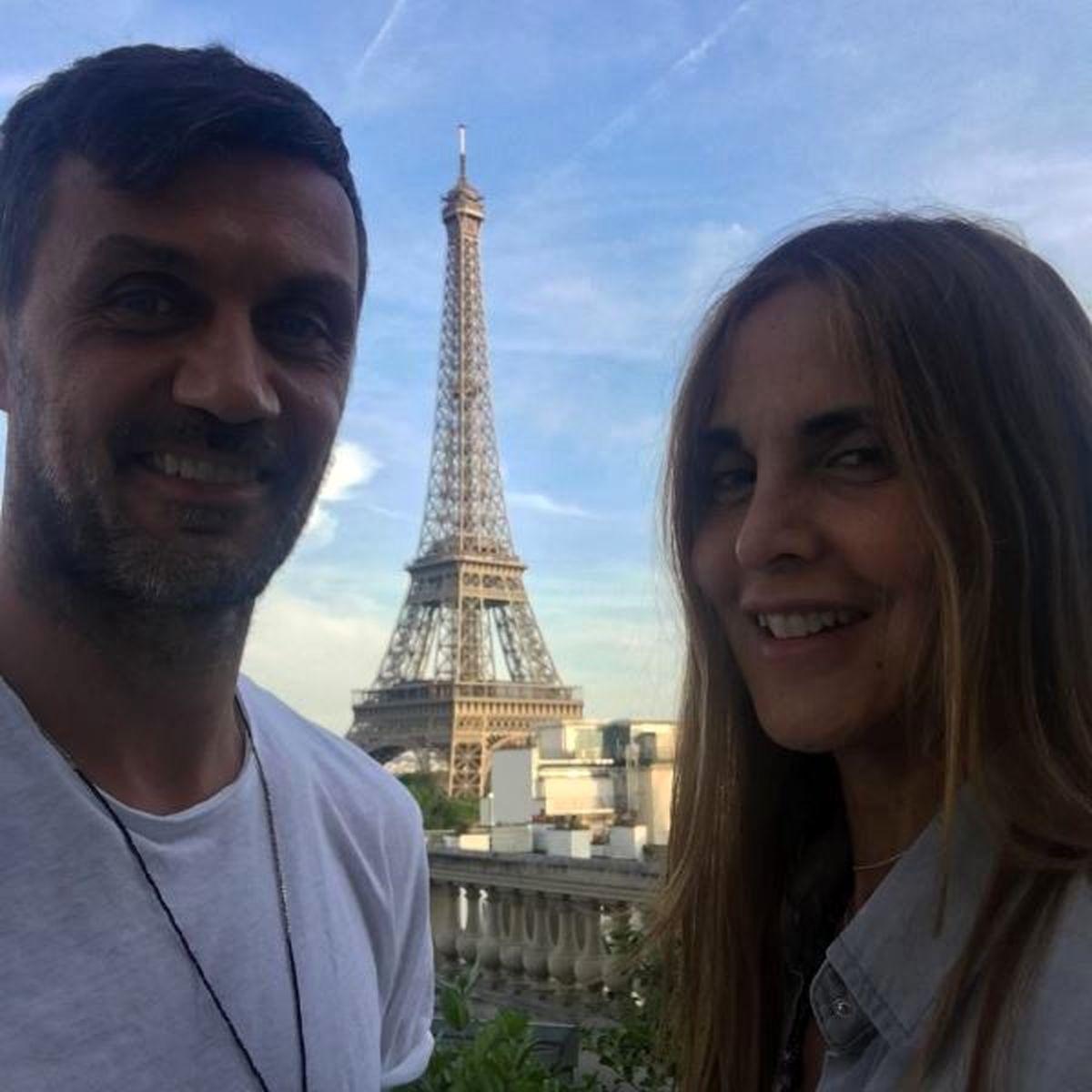 پائولو مالدینی و همسرش در فرانسه +تصاویر