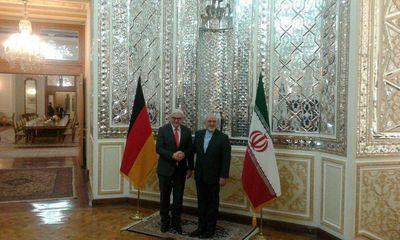 دیدار ظریف و اشتاین مایر در تهران +عکس