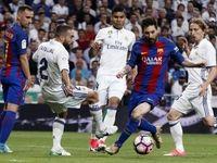 لحظه گل مسی و پیروزی بارسلونا در ال کلاسیکو +فیلم