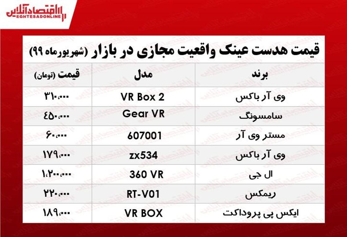 عینک واقعیت مجازی چند؟ +جدول