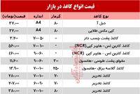 نرخ انواع کاغذ و مقوا در بازار تهران؟ +جدول