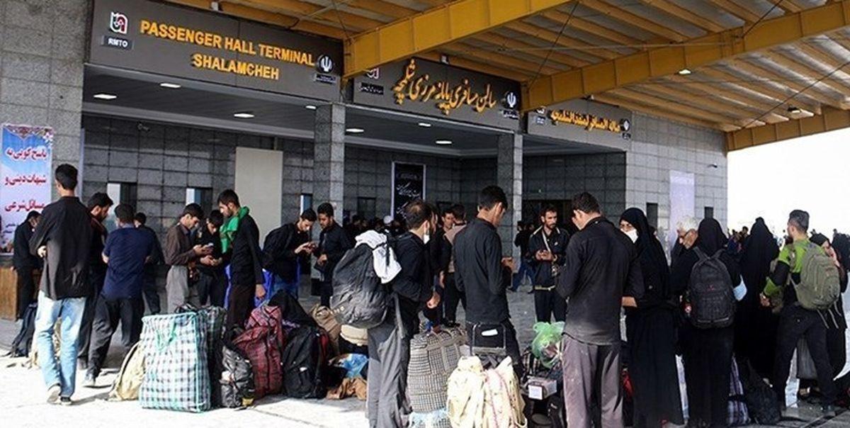 100هزار زائر اربعین از مرز شلمچه راهی عتبات عالیات شدند