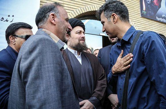 خوش و بش فردوسی پور و سیدحسن خمینی +عکس