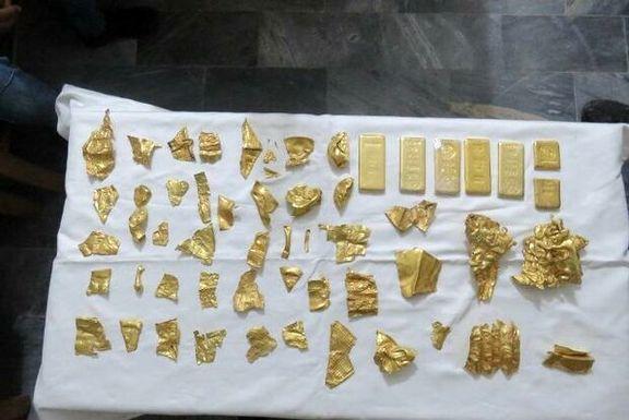 کشف ۶کیلوشمش طلا و ۵۰قطعه عتیقه