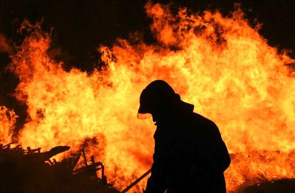 آتش سوزی در کمپ ترک اعتیاد