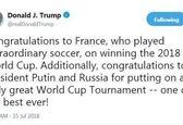 واکنش ترامپ به قهرمانی فرانسه در جامجهانی