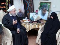 حضور رییس جمهوری در منزل سردار شهید سپهبد سلیمانی +تصاویر